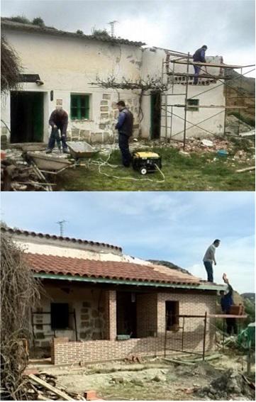 Reformar una casa cueva y su porche
