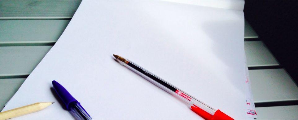 Iniciativa nueva y el papel en blanco