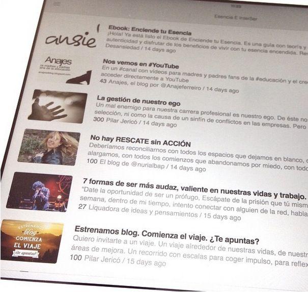 Saborear posts leídos en iPad