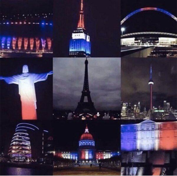 Mundo en duelo por París