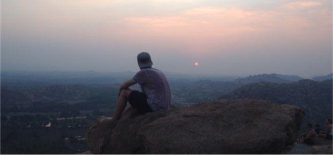 Puesta de sol en India