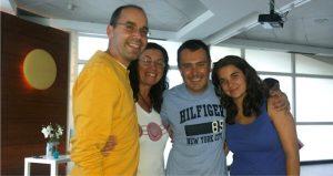 El equipo interSer con Sergi Torres