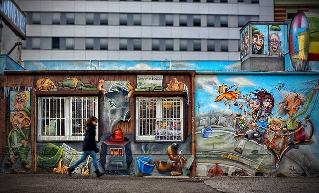 Grafiti sobre el caos de la vida