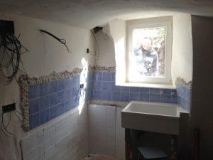 Obras en la cocina de la casa cueva