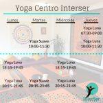 Horarios de yoga en el Centro InterSer de Palencia