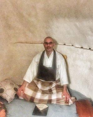Maestro Zen Denkô Mesa en retiro de meditación