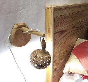 Diseño de Lampara de calabaza en Casa Cueva