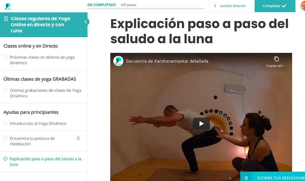 Plataforma digital de la Escuela de Yoga y Meditación